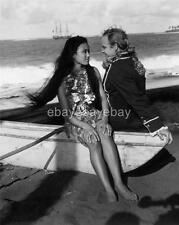 MARLON BRANDO TARITA 1962 rare photo candid mutiny on the bounty RE154