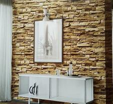 """3D Realistic Real Stacked Brick Stone Vinyl Background Wallpaper 20.8""""x393.7"""" $"""