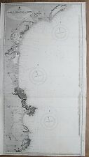 1894 FRANCE SPAIN CAPE ST SEBASTIAN TO CETTE GENUINE VINTAGE ADMIRALTY CHART MAP