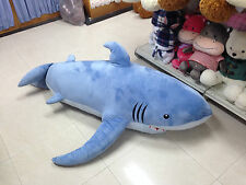 Hot 71''Giant Huge Shark Big Plush Toy Cover/Shell (Without Stuffing)With Zipper