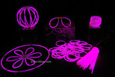 "50- 8"" Pink Glow Stick Bracelets Party Pack"