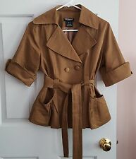 lovely muted brown NESLAY Paris Belted Fashion Jacket - sz M - EUC