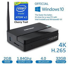 Sumvision Cyclone Mini PC 2 windows 10 4K 32GB WiFi Bluetooth 1.83GHz + Keyboard