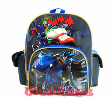 "Batman Backpack- Dark Knight 12"" Toddler Backpack - Batman on Batbike, New"