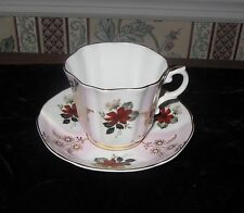 ROYAL GRAFTON ENGLAND BONE CHINA GOLD CUP SAUCER FLORAL PATTERN NUMBERED 5351