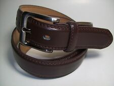 "Men Smoke Color Buckle Dark Brown leather belt 2XL 46 - 48"" #9907B"