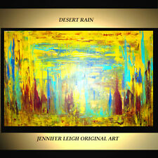 """ORIGINAL LARGE ABSTRACT CONTEMPORARY MODERN ART PAINTING Yellow 36x24"""" JLEIGH"""