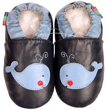 shoeszoo whale dark blue 3-4y S soft sole leather toddler shoes