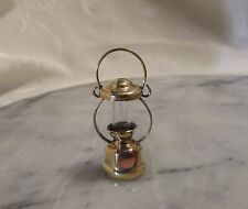 Dollhouse Miniature Coleman Lamp in Brass. Camping Lamp.