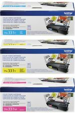 GENUINE OEM BROTHER TN331C TN331Y TN331M TONER SET (3-PACK) MFC-L8850CDW *NEW*