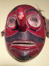 Antique, Ethnographic, Pentul (Clown) Mask, Lombok Java Indonesia, Topeng Dance