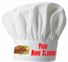 PRINTED CHEFS HAT PERSONALISED FREE MINTED LAMB DESIGN CHEFS HAT