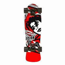 Vision Mark Gonzales MINI FACE COMPLETE Skateboard RED DIP w/BLACK/WHITE FACE