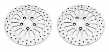 "(2) FRONT DNA ""SUPER SPOKE"" DUAL DISC 11.5"" BRAKE ROTORS HARLEY SET OF 2 SS"