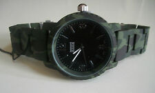 Mens metal Painted camouflage bracelet heavy fashion  watch
