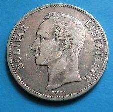 5 Bolivares Venezuela 1902 - Argento 900 -RARO - nr  650