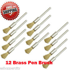 "12  Rotary Brass Wire Brush Dremel 8220-2/28 395 4000 1/8"" Shank Clean Polish"