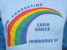 vintage 1984 RAINBOW CONNECTION JAMBOREE PAPER THIN T-Shirt XS concert 80s