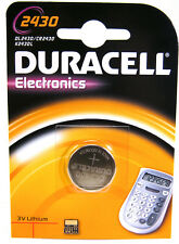4 x Duracell CR2430 3V Lithium Coin Cell Battery DL2430 K2430L ECR2430