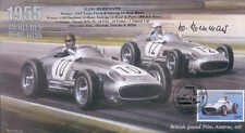 1955b Mercedes-Benz W196, incluso, Reino Unido F1 Cubierta Firmado Hans Herrmann