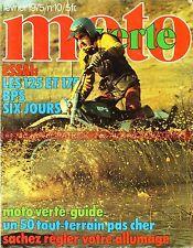 MOTO VERTE  10 Essai BPS 125 175 Super Elan 6 Jours PEUGEOT MOTOBECANE D52 TT 75