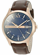 NEW Armani Exchange AX2172 Hampton Brown Leather Strap Men's Watch