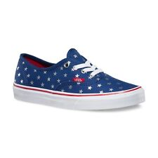 Vans Authentic (Studded Stars) Red/Blue Classic Skate WOMEN'S Shoes SIZE 7