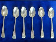 ANTIQUE ENGLISH VICTORIAN STERLING SILVER HALLMARKED DEMI-TASSE SPOONS, LOT OF 6