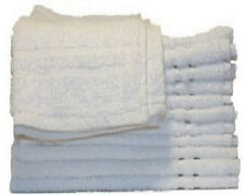 12 NEW  WHITE 100% COTTON HOTEL HAND TOWELS 16X27