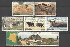 Zaire 1982 Cat/Car/Lion/Monkey/Elephant/Hippo 7v n21458