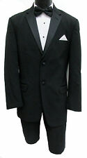 40R Black Kenneth Cole Two Button Tuxedo with Pants Clearance Cheap Prom Tux