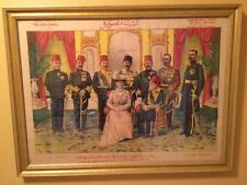 1912 Cairo Punch King George V, Kedive,Ottoman Princes Port Said A.H. Zaki Print