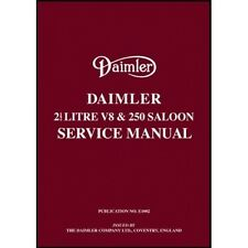 Daimler 2.5 V8 and 250 Saloon Service Manual book paper