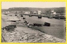 cpsm 50 - TOURLAVILLE DIGOSVILLE (Manche) LE BECQUET Village Port vu de la Mer