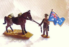 54mm WW1 Light Horse trooper dismounted with National Flag