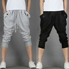 Men's Knee Casual Sport Dance Shorts Baggy Gym Harem Pants Cropped Trousers New