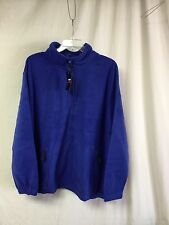 NWT Big Men's Large & In Charge Polar Fleece Zip Up Jacket Size 5XL Royal #144P