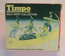 Timpo toys 754 Mini Box Indien Canoë avec des personnages de ausgeblichener OVP #1045