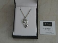 "Lovely 18"" Hallmarked Sterling Silver & Opal ORTAK Malcolm Grey Necklace Boxed"