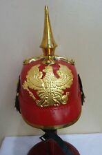 German Prussian Pickelhaube Spiked Helmet Incl. Leather Inlet & Brass Fittings