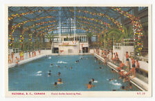Crystal Garden Swimming Pool VICTORIA British Columbia Canada 1930-40s Coast PC