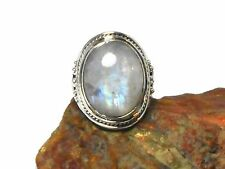 MOONSTONE   Sterling  Silver   925  Gemstone   RING  -  Size: N  - Gift  Boxed!