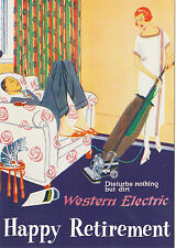 ROBERT  OPIE  ADVERTISING  POSTCARD  -  WESTERN  ELECTRIC  VACUUM  CLEANER
