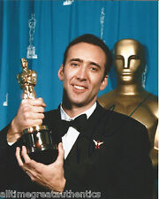 ACTOR NICOLAS CAGE SIGNED ACADEMY AWARD 8X10 PHOTO W/COA OSCAR WINNER THE ROCK