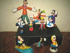 """10 RARE HTF DISNEY """" GOOFY """" COLLECTABLE FIGURE'S ETC..  """" SOLD AS IS """""""