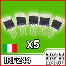 IRFZ44N MONSFET TRANSISTOR 49A 55V x5 pezzi irfz 44