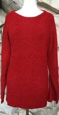J Jill Purejill J. Sweater Red Heather Plush Oversize Pullover - NEW Sz L