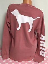 New Victoria's Secret Pink Campus Dog Shirt Graphic Small V23