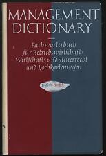 Wörterbuch English Deutsch Betriebswirtschaft Steuerrecht Wirtschaft Lochkarten