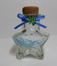 "Origami Lucky Star 2.75"" Love Star Shape Glass Bottle"